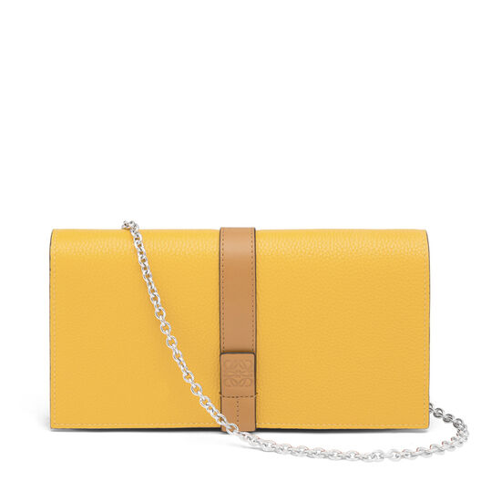 LOEWE Wallet On Chain Yellow Mango/Honey all