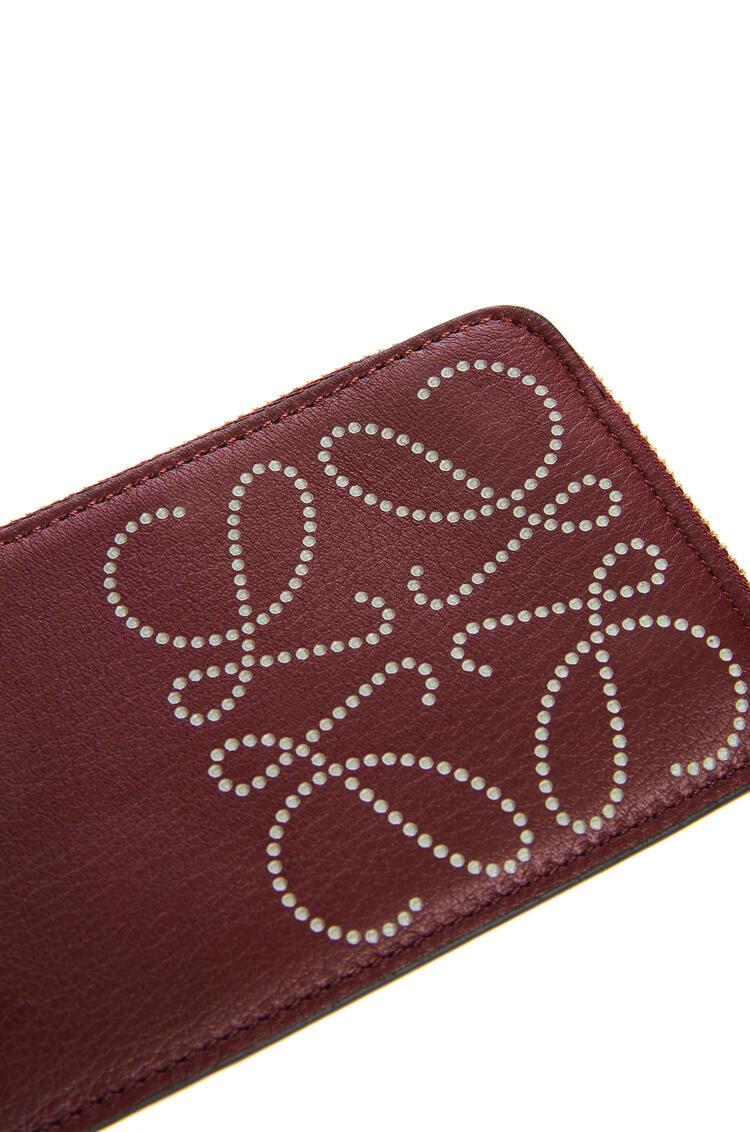 LOEWE Brand coin cardholder in calfskin Berry/Light Oat pdp_rd