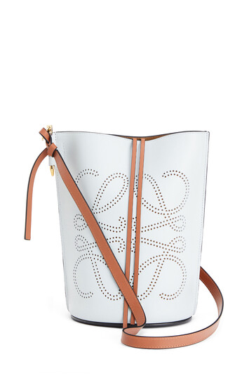 LOEWE Gate Bucket Anagram Bag Kaolin/Tan front
