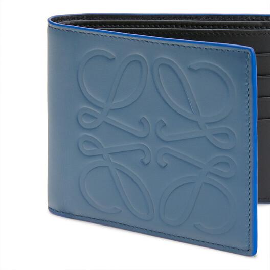 LOEWE 两折钱包 Steel Blue front