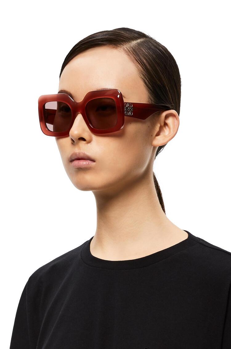 LOEWE Rectangular sunglasses in acetate 草莓红 pdp_rd