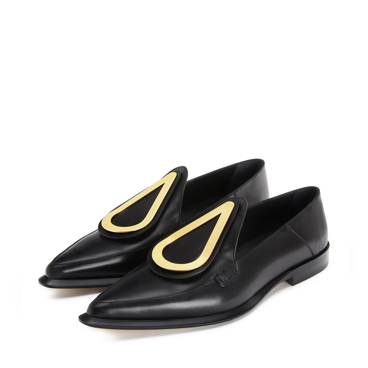 LOEWE Drop Pointy Loafer 黑色 front