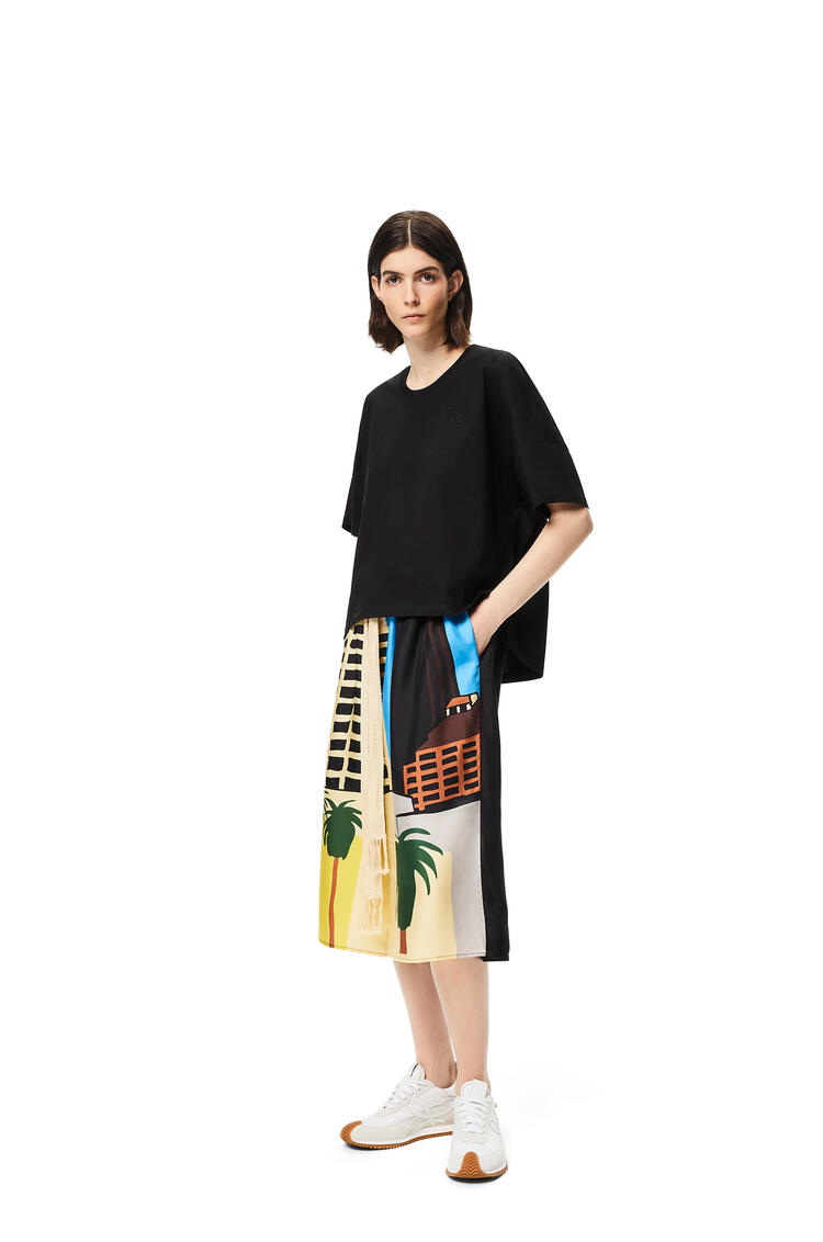 LOEWE Shorts en lana L.A. Series con cordón Negro/Multicolor pdp_rd
