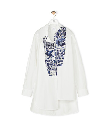 LOEWE Asymmetric Shirt Animals White/Blue front