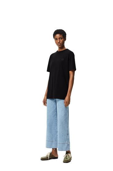 LOEWE 圆形棉质罗纹衣领短袖T恤 黑色 pdp_rd