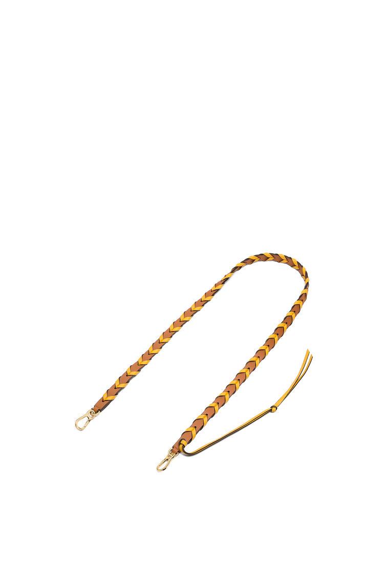 LOEWE Thin Braided strap in classic calfskin Light Caramel/Yellow Mango pdp_rd