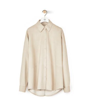LOEWE Oversize Shirt アイボリー front