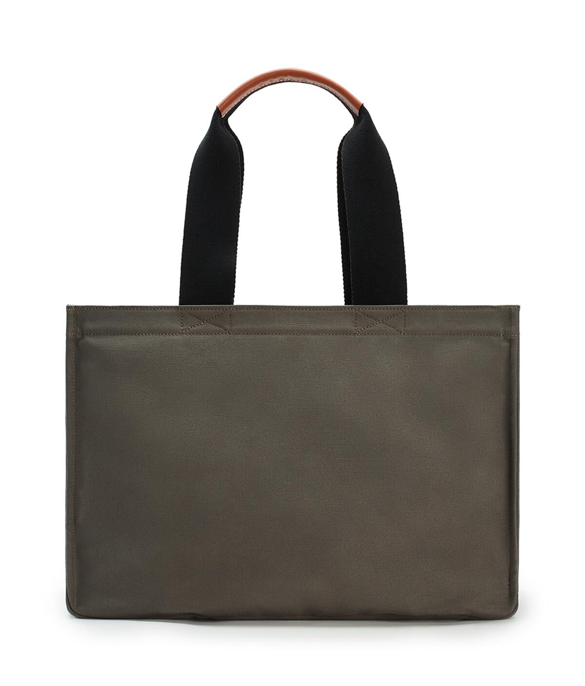 LOEWE Large Paula's Beach Cabas Bag In Canvas Khaki Green front