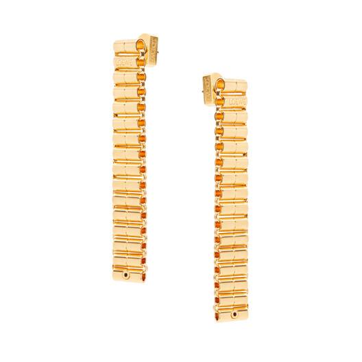LOEWE Chain Earrings Gold front