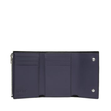 LOEWE Small Vertical Wallet Navy Blue front