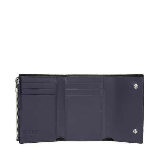 LOEWE Small Vertical Wallet Navy Blue all