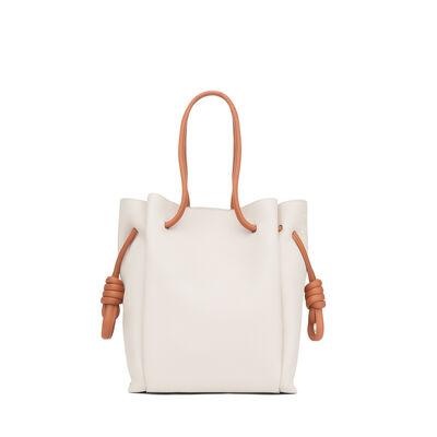 LOEWE Flamenco Knot Tote Small Bag Soft White/Tan front