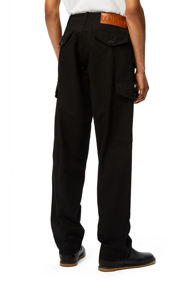 LOEWE Cargo trousers in cotton Black pdp_rd
