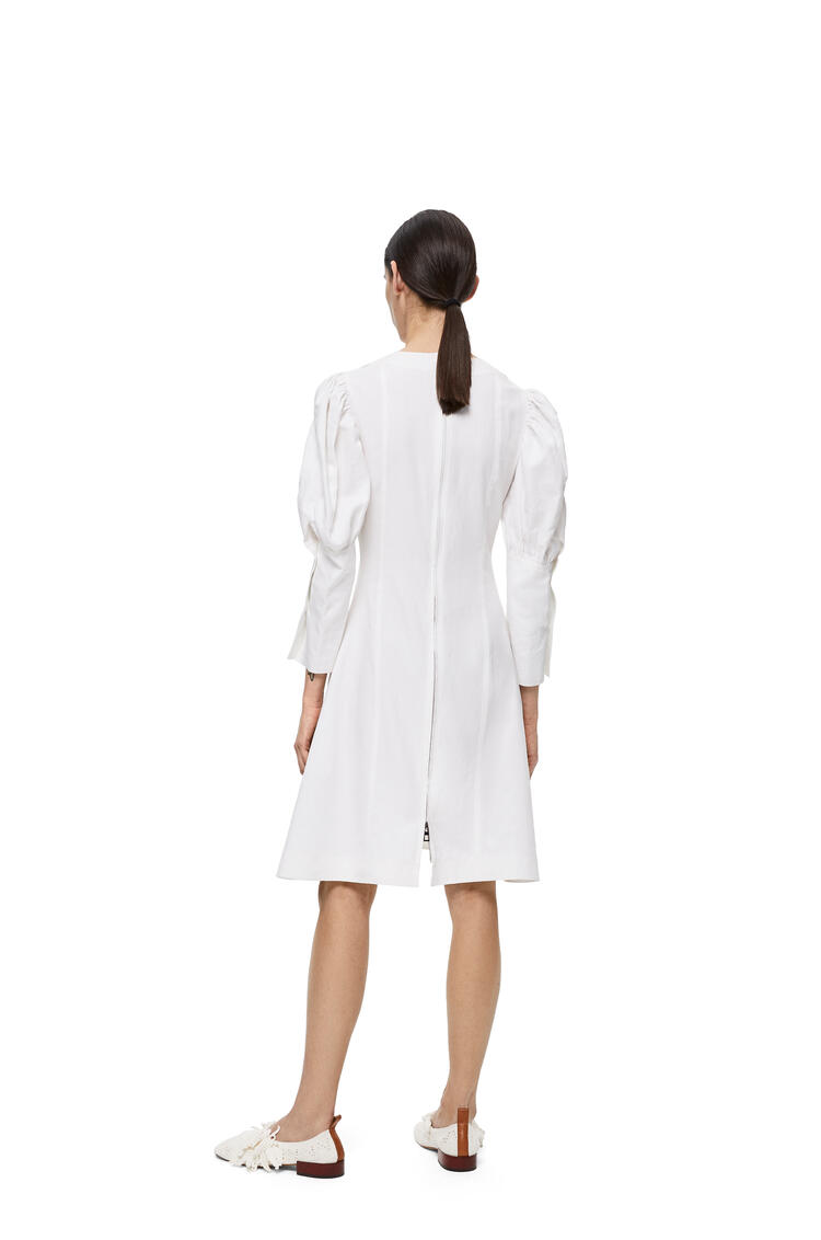 LOEWE バルーン スリーブ ドレス(リネン) ホワイト pdp_rd