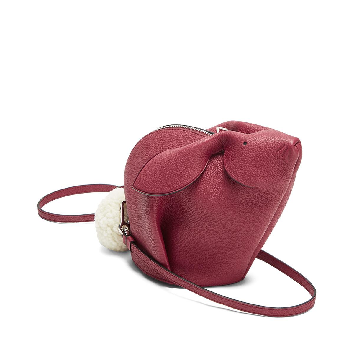 LOEWE Bunny Mini Bag Raspberry front