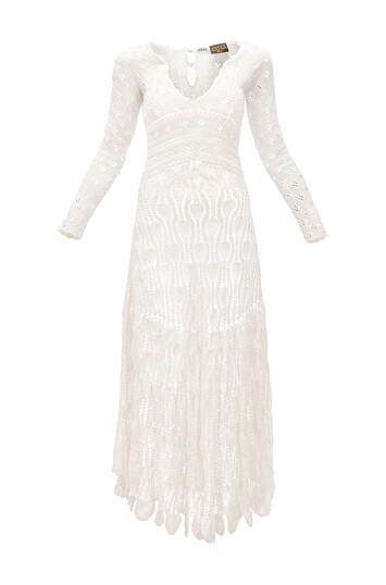 LOEWE Paula Crochet Dress Crudo front
