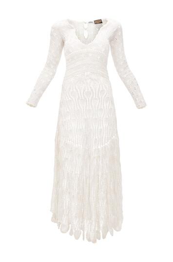 LOEWE パウラクロシェットドレス Off-White front