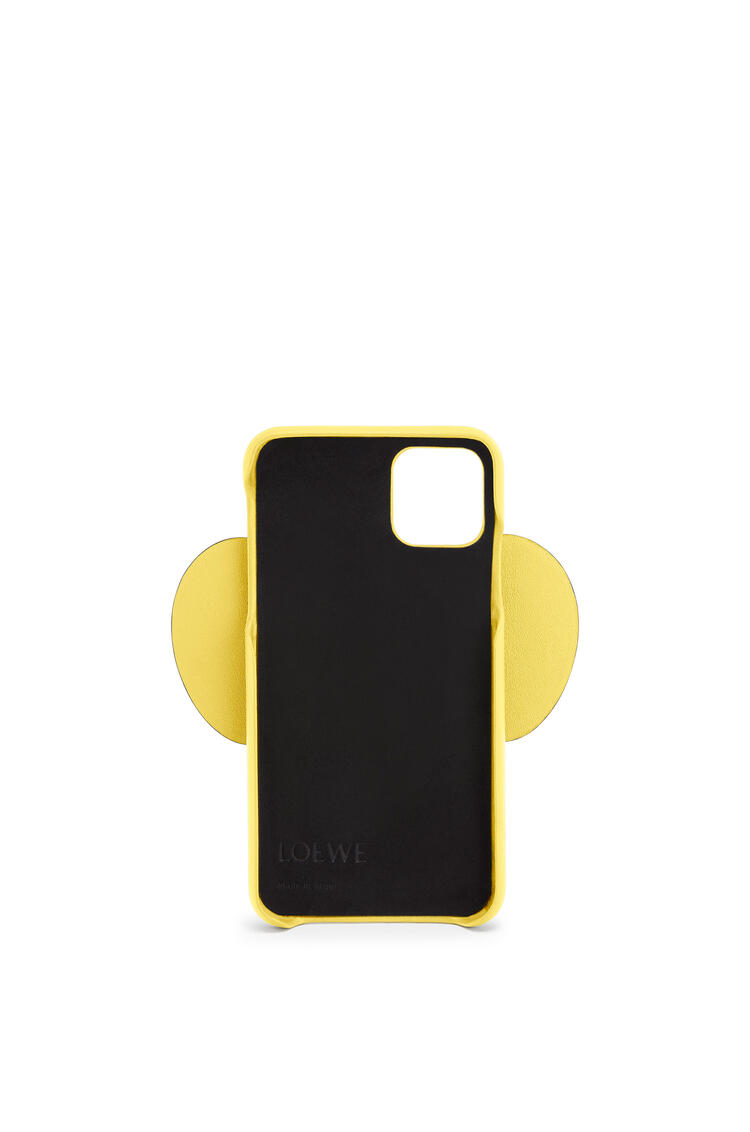 LOEWE Elephant cover for iPhone 11 in classic calfskin Yellow pdp_rd