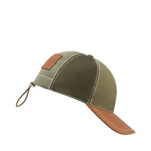 LOEWE Baseball Cap Green/Tan front
