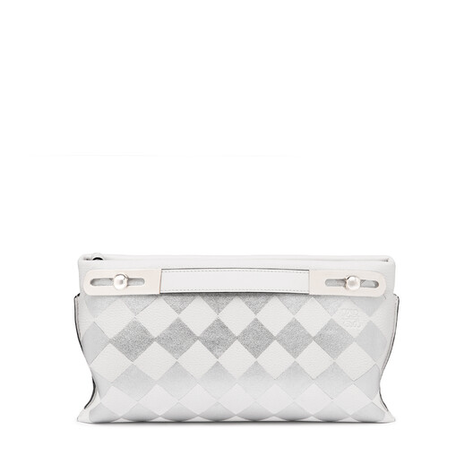 LOEWE ミッシーチェックスモールバッグ White/Silver front