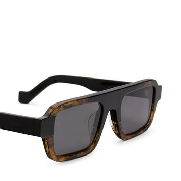 LOEWE Square Sunglasses Black/Khaki Green front