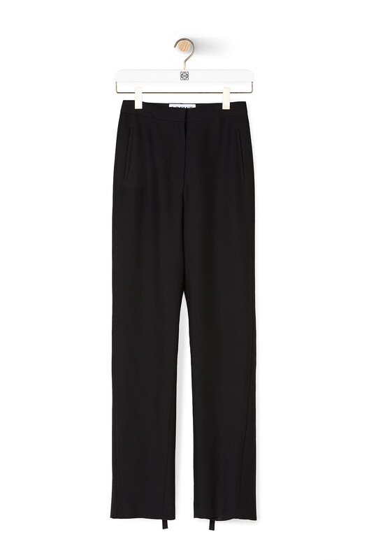 LOEWE Tie Hem Trousers Black front