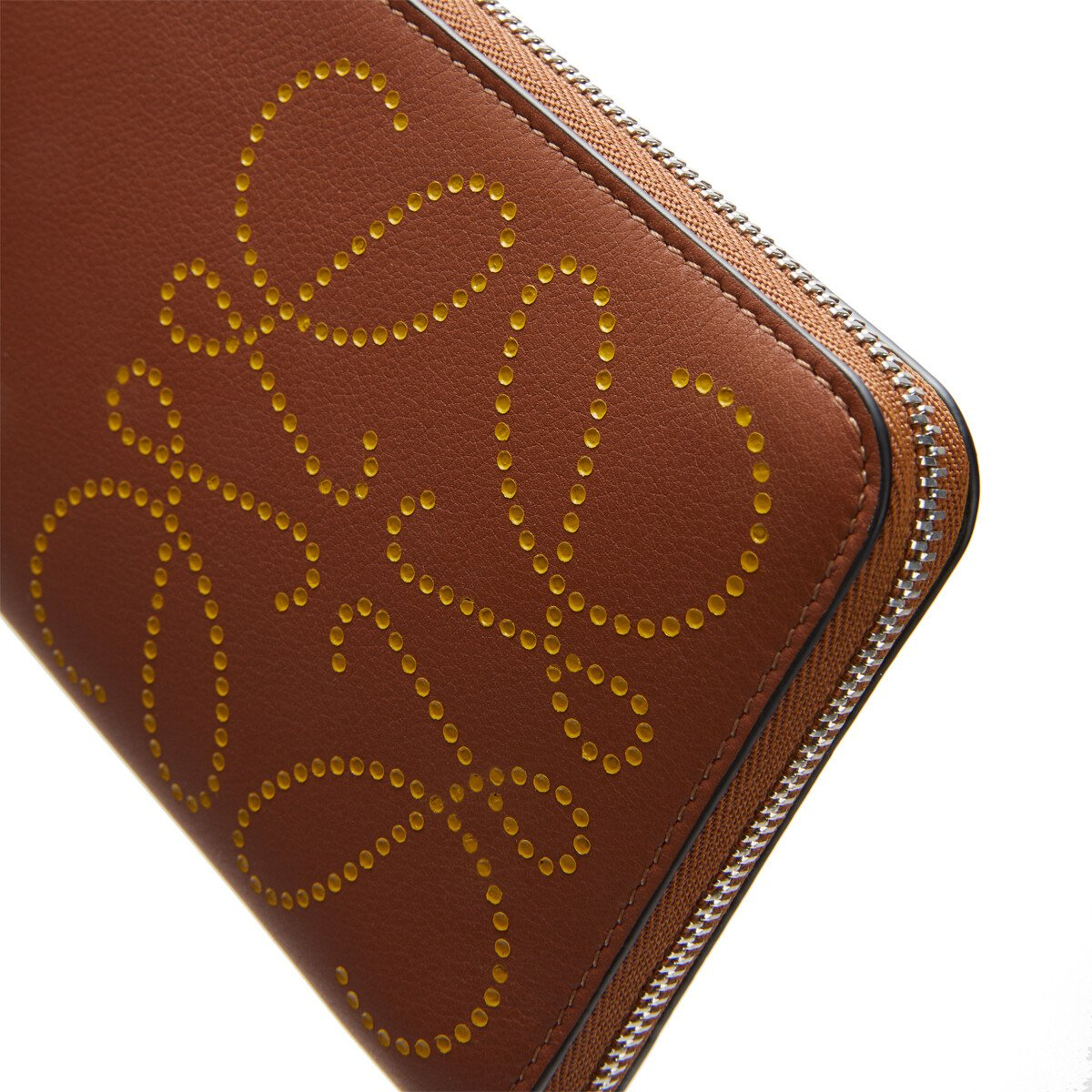 LOEWE Brand Zip Around  Wallet Tan/Ochre front