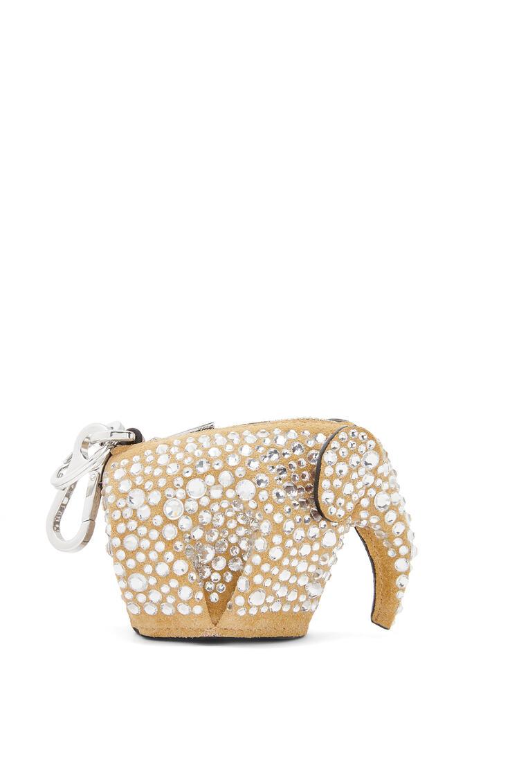 LOEWE Charm Elephant en ante y strass Oro/Cristal pdp_rd