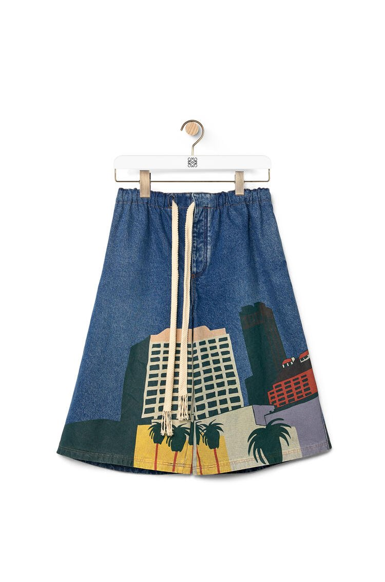LOEWE L.A. Series drawstring shorts in cotton Blue/Multicolor pdp_rd