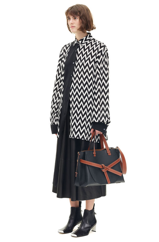 LOEWE Herringbone Shirt Negro/Blanco all