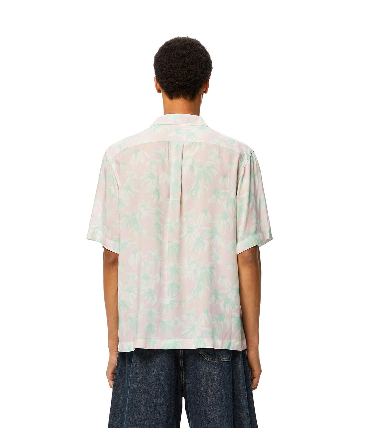 LOEWE Daisy Print Bowling Shirt Pink/Light Green front
