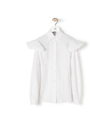 LOEWE Cape Sleeve Shirt White front
