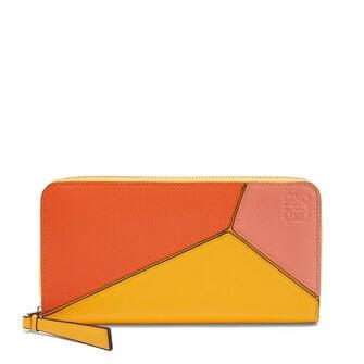 LOEWE Billetero C/Cremallera Puzzle Naranja/Mandarina front