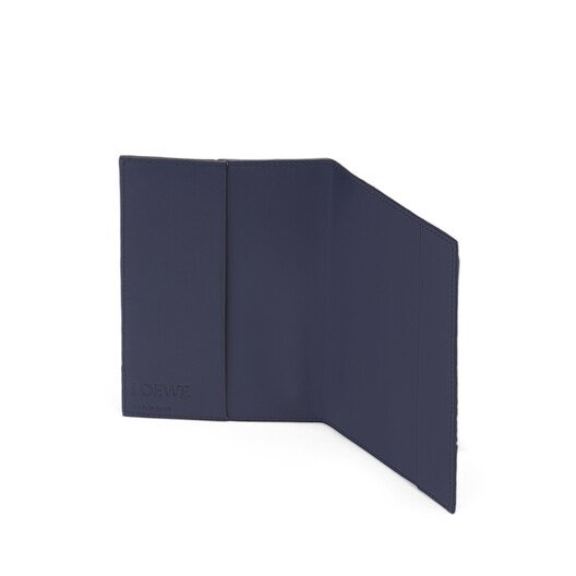 LOEWE Puzzle Passport Cover Navy Blue front