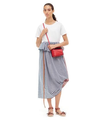 LOEWE Drawstring Skirt Gingham Blue/Red/White front
