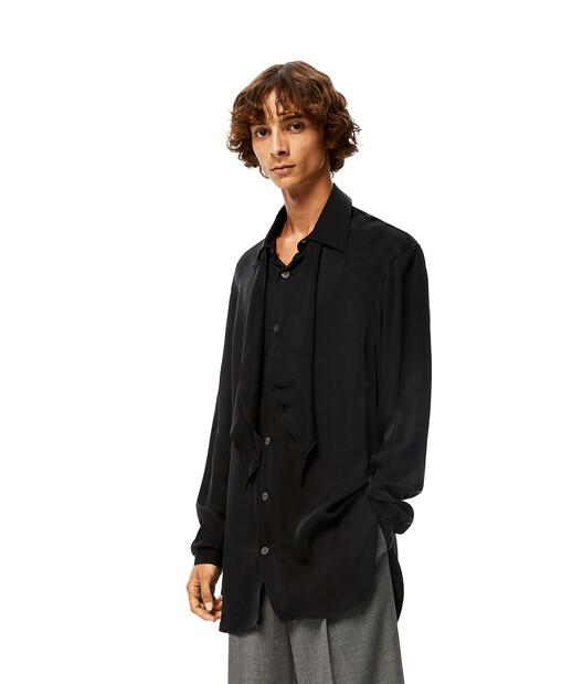 LOEWE Tie Shirt ブラック front
