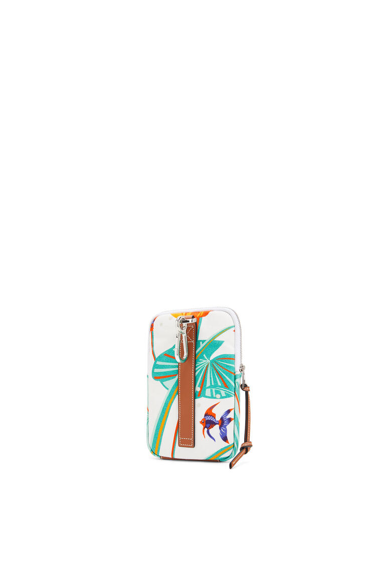 LOEWE Case in printed canvas 白 pdp_rd