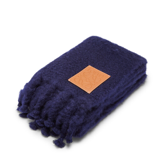 LOEWE 130X200 Blanket Loewe Patch Navy Blue front