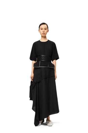 LOEWE Obi Belt Lace In Nappa Black pdp_rd