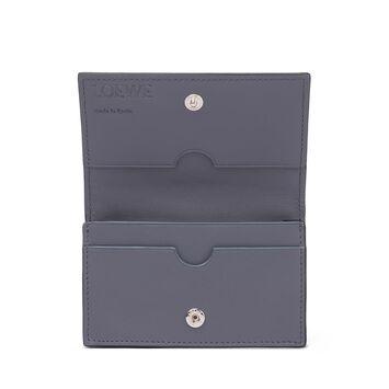 LOEWE ビジネス カード ホルダー ネイビー/オーシャン front
