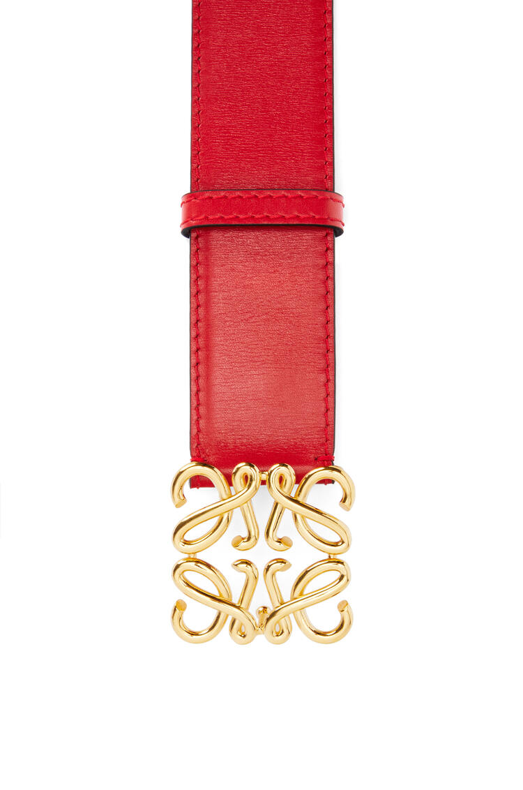 LOEWE Anagram belt in natural calfskin Burnt Red/Gold pdp_rd