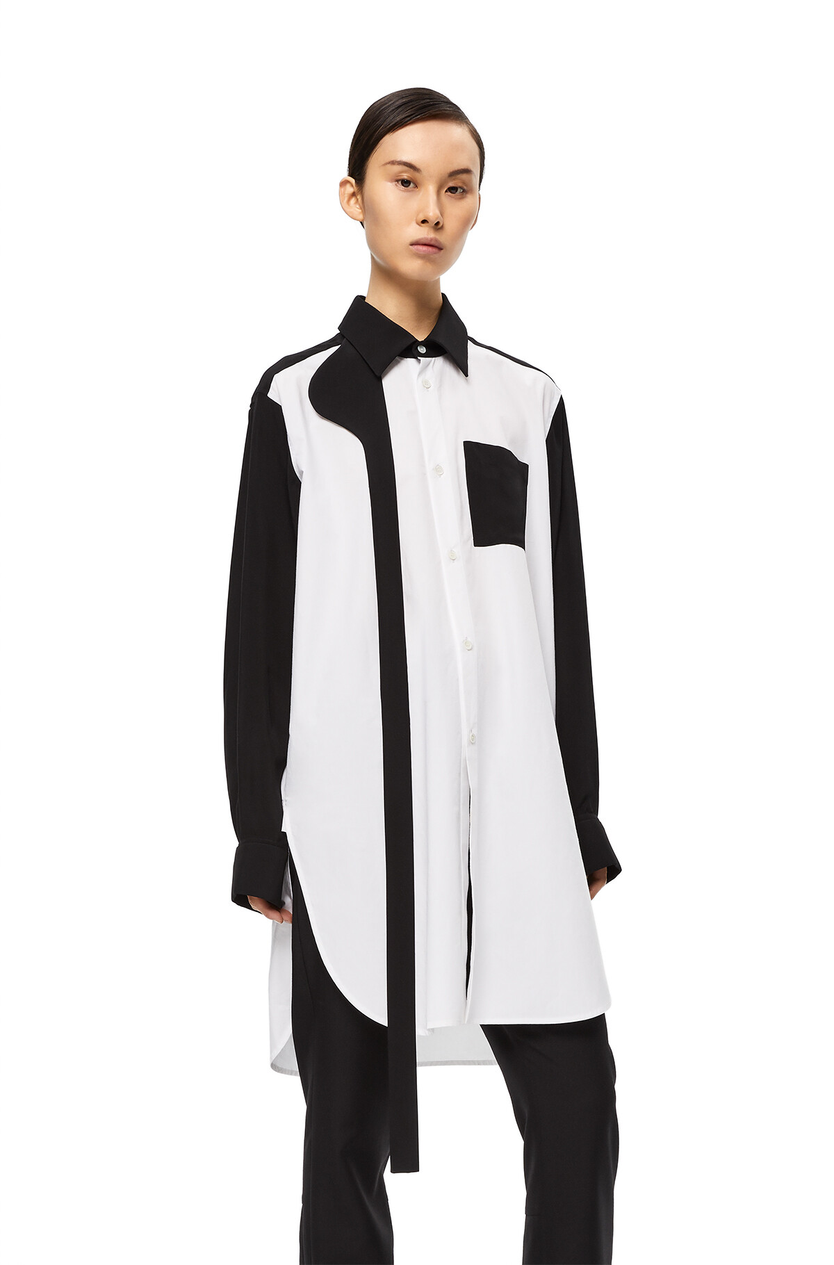 LOEWE Bicolor Shirt Blanco/Negro front