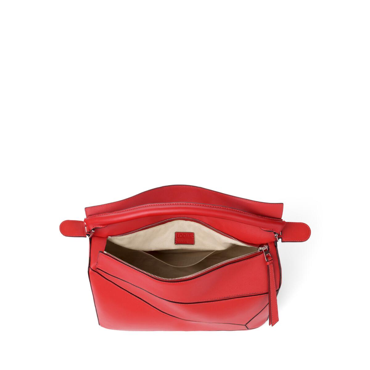 LOEWE Puzzle Bag Scarlet Red front