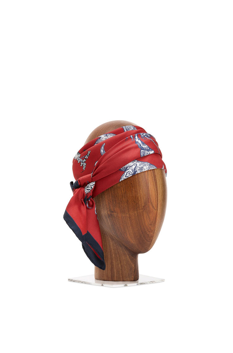 LOEWE 90 x 90cm alphabet scarf in silk Red pdp_rd
