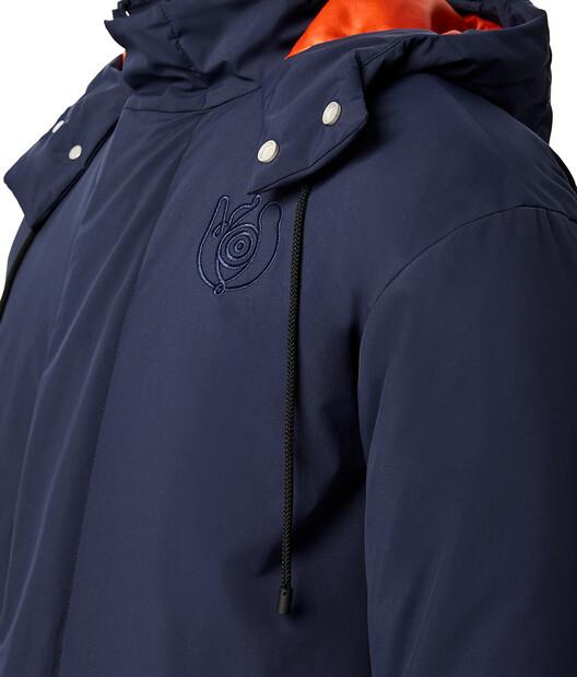 LOEWE 兜帽高领夹克 Navy Blue/Orange front