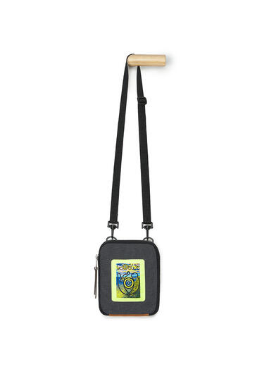 LOEWE Crossbody Bag In Canvas Black pdp_rd