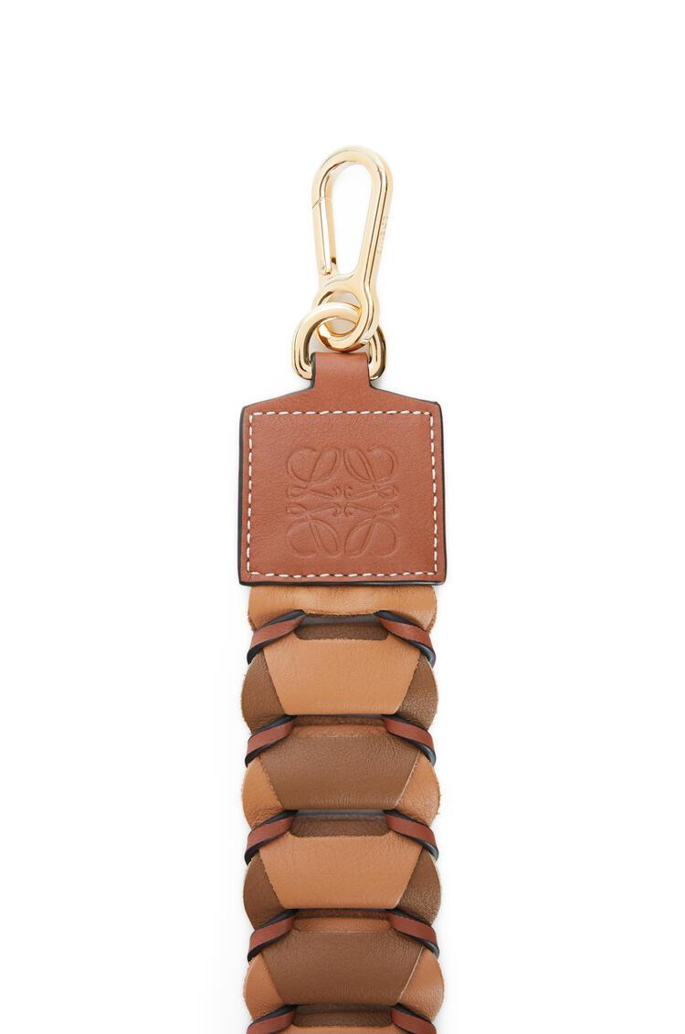 LOEWE Bandolera de círculos en piel de ternera clásica Roble/Oro Oscuro pdp_rd