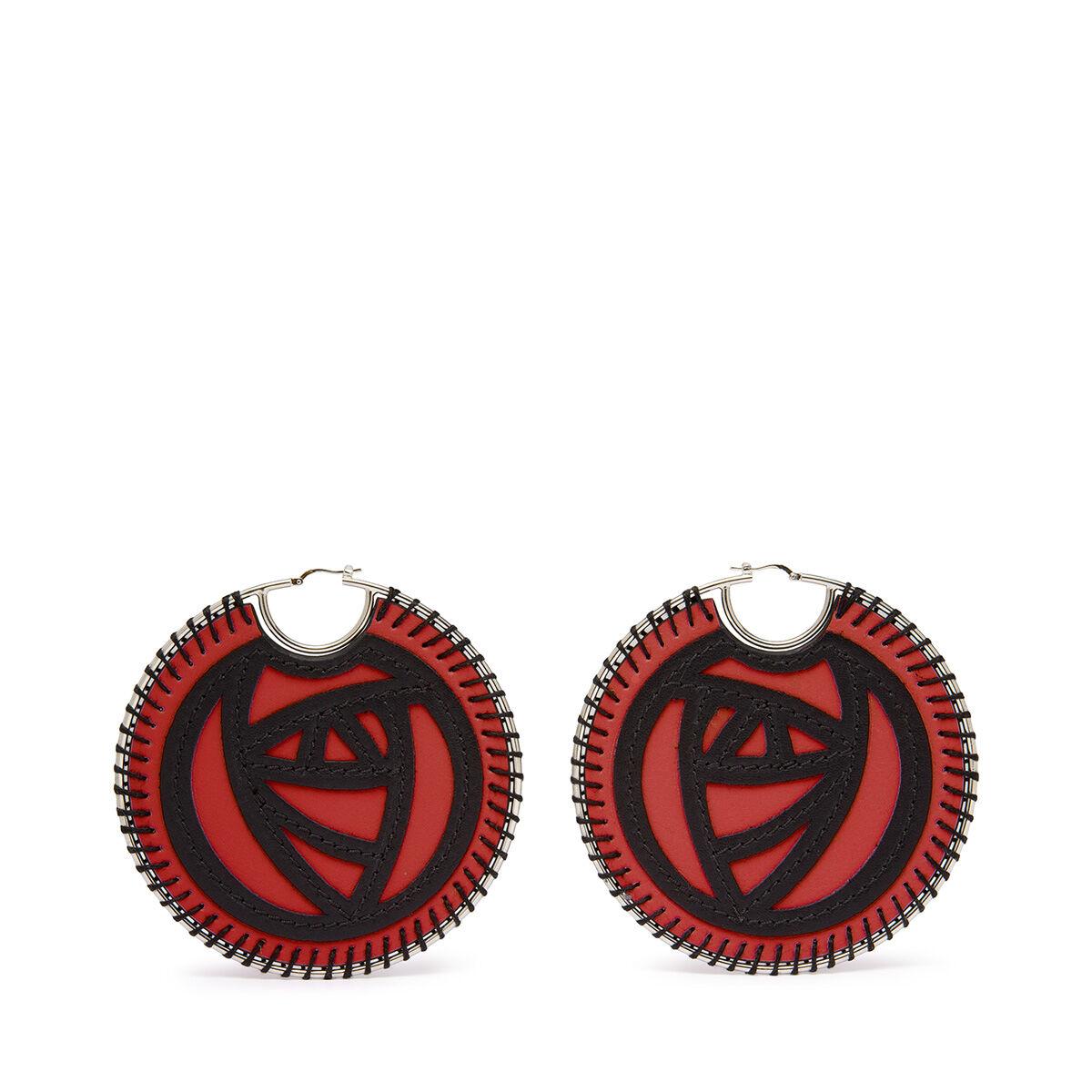 LOEWE Roses Earring Scarlet Red/Black all