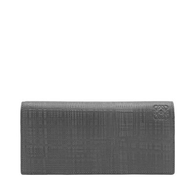 LOEWE Long Horizontal Wallet Dark Grey front