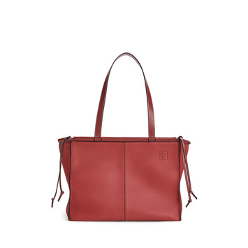 LOEWE Cushion Tote Small Bag Garnet front